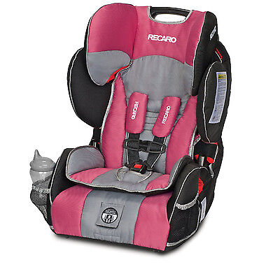 RECARO Performance SPORT Combination Harness BOOSTER Unisex BABY CAR SEAT (Rose)