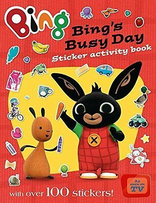 Bing's Busy Day Sticker Activity Book (Bing) Paperback Over 100 Stickers NEW