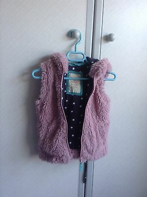 Mini Boden faux fur lilac gilet, age 1 1/2- 2 years, new without tags