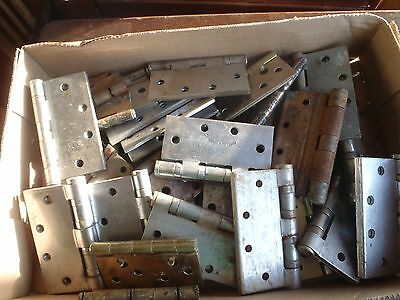 Vintage  Hardware Door Hinges Mixed Lot 31 Picies,durable