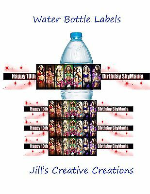 WWE Water Bottle Labels, Water bottle labels, WWE, Birthday, WWE Diva