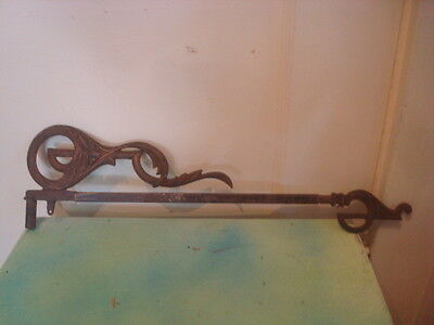 Antique Victorian  Extending Swing Arm Curtain Rod
