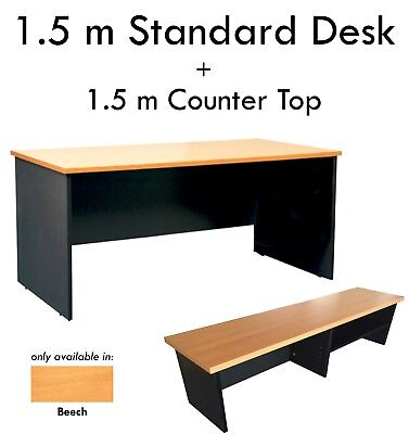 1.8m Cherry Corner Workstation Desk Executive Office Table Computer Home Student