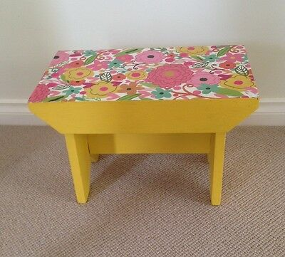 Small Wooden Vintage Stool