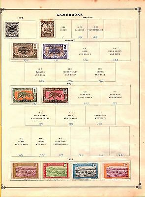 Cameroon 1900 to 1925 Collection on Scott Pages Occupation Lot of 11 stamps