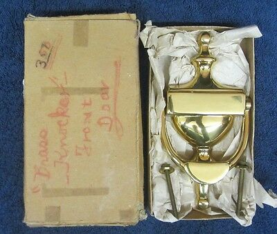 NEW Vtg 1950s ASIA BRASS WORKS DOOR KNOCKER Atomic Mid Century Modern NOS NIB