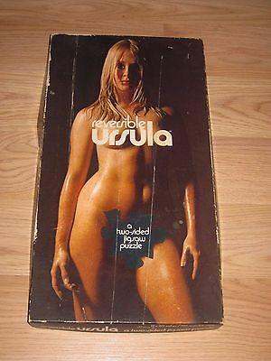 Vintage 1971 Reversible Ursula Andress 396 Pcs Jigsaw Puzzle/James Bond 007 Girl
