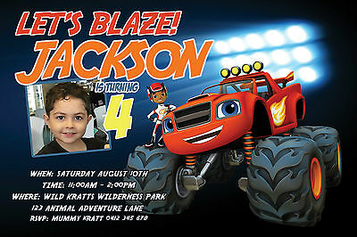 BLAZE AND THE MONSTER MACHINES Invitation YOU PRINT File Birthday Party Invite
