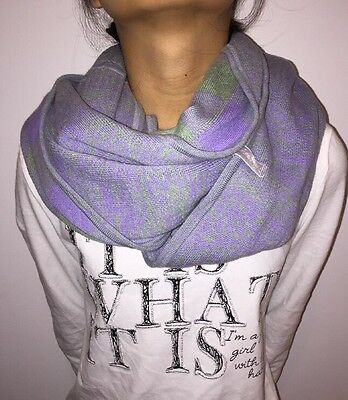 IVIVVA by Lululemon Athletica Purple Knitted HOOP CHILL SCARF