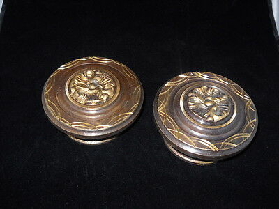 Pair of Greece Vintage rare Solid Brass Door Knobs Handles D-04