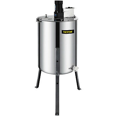 4/8 Frame Electric Honey Extractor Beekeeping 120 W Motor 2 Clear  Lids