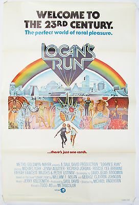 Logan's Run Vintage 1976 Original Promotional US One Sheet Poster Charles Moll