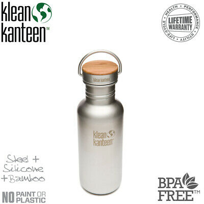 KLEAN KANTEEN 18oz 532ml Reflect Brushed Stainless BPA Free Water Bottle