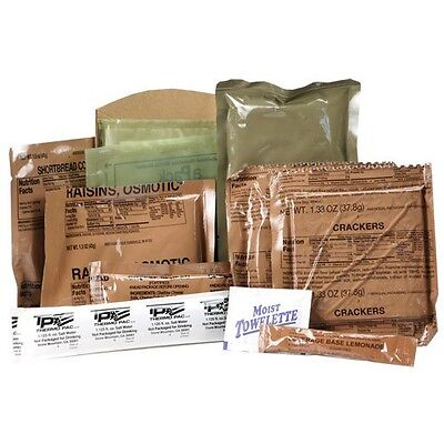 US ARMY MRE Meal Ready to eat Field Outdoor Catering Menu 18