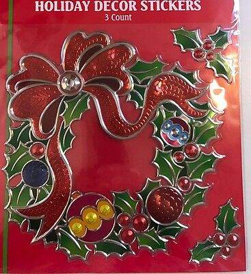 Gorgeous Large Embossed Foil Window cling Sticker christmas Decoration