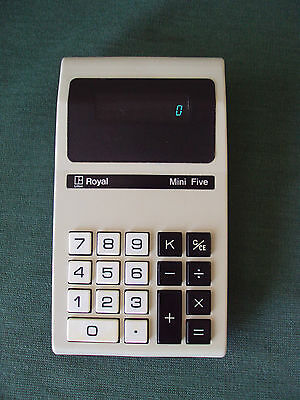 Imperial Typewriter Royal Mini Five Calculator 1974