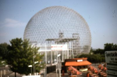 12  ORIGINAL 1981 35mm SLIDE  VISIT to 1967 MONTREAL EXPO WORLDS FAIR GROUNDS
