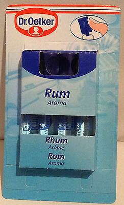 Dr Oetker Liquid Food Flavouring, Rum , 4 x 2ml, for baking & cakes.  Free Post!