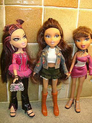 3 x Absolutely Stunning Bratz Dolls Fully Clothed with Accessories