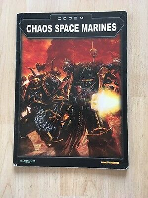 Codex Chaos Space Marines 2002 Warhammer 40,000 Games Workshop BOOKS Lot/ Set