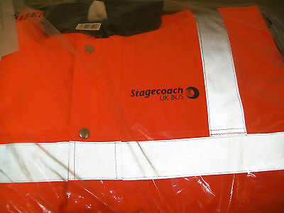 Stagecoach Bus Drivers Hi-Vis Orange/navy Padded Jacket Size Small
