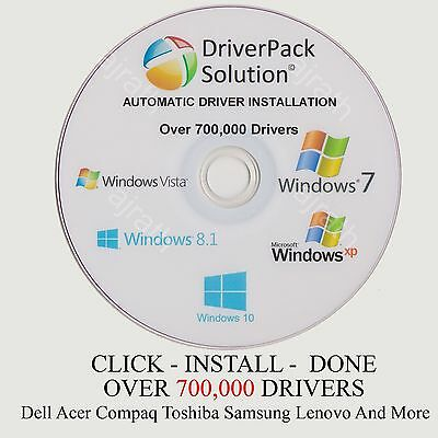 Driver Pack  Update PC Drivers 32/64 700,000 Drivers XP Vista 7 8 8.1 & 10 Dell