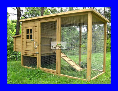 Large Deluxe Chicken Coop Hen Poultry Ark House Hutch