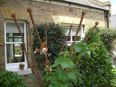 1.8m Tall Bare Metal Plant Support Weathered Steel Garden Obelisk Oxidized Iron