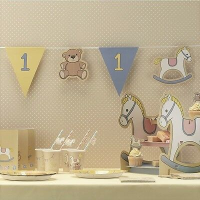 Boys 1st birthday bunting ROCK-A-BYE BABY party banner