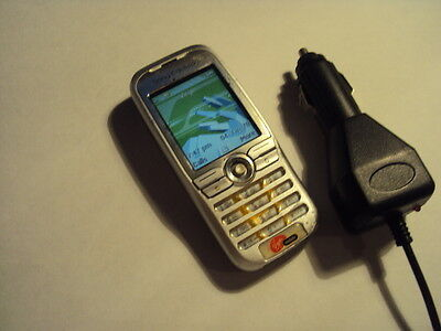 Pensioner Elderly Simple Sony Ericsson K500I Mobile Phone On Virgin+Car Charger