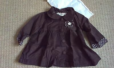 Powell Craft coat  BNWOT 2-3 years brown, traditional, 100% cotton