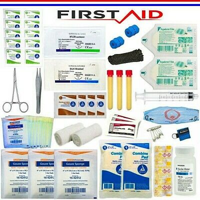 Suture Medical Kit First Aid Emergency Trauma Blood Clot Powder Outdoor Bug Out