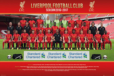 Liverpool : Team Season 2016-17 - Poster 91.5cm x 61cm