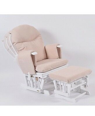 Habebe Glider Rocking Nursing Maternity Recliner Chair with footstool
