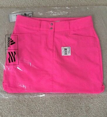 Womens Ladies Adidas Golf Skort - Bright Pink. Size Uk 16. Suitable For Tennis.