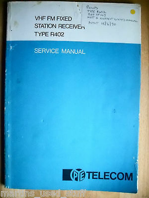 Pye R402 Vhf Fm Fixed Station Receiver Manual