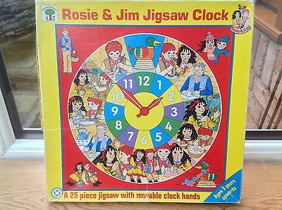 Rosie And Jim Toys - Rosie & Jim Jigsaw Clock Puzzle - Educational - Rare!!