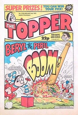 TOPPER - 3rd JANUARY 1987 (1st - 7th Jan) RARE 30th BIRTHDAY GIFT !! FINE+ beano