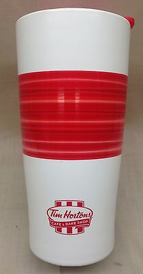 Tim Hortons 2015 Limited Edition Red Summer Coffee Travel Mug Cup New Rare