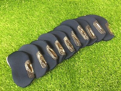 Blue Golf Iron Club Headcovers / Head Covers with Window - Set of 10