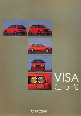 Citroen Visa GTi original PRESS KIT 1984 GERMAN text