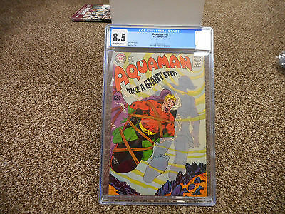 Aquaman 43 cgc 8.5 DC 1969 ow/w pages VF Justice League of America movie 12 cent