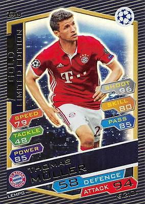 Limited Thomas Muller GOLD Topps Champions League 2016 2017