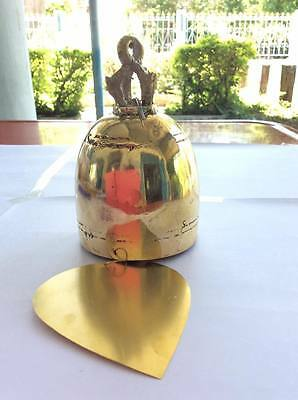 Real Rare100%  Bell Gold Color Thai Buddha Temple Wind Style Brass Sound Good