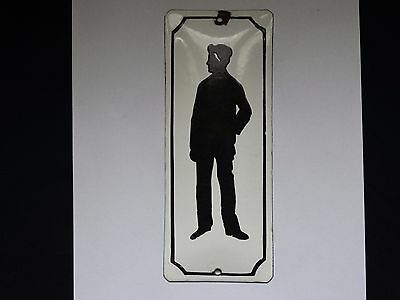 VINTAGE ENAMEL PORCELAIN TIN SIGN PLATE MAN VERY VERY RARE SIGN .(No.MZ9)