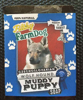 Czechoslovakian Wolfhound / Bar of Dog Soap / Fun Graphics / Unique Gift /