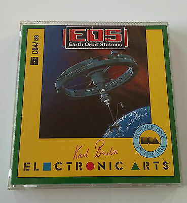 EOS - Earth Orbit Stations - Commodore C64 - Disk - Boxed - 1987