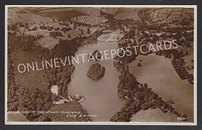 Aerial View Of Trentham Gardens Lake Woods Near Stoke Staffordshire Real Photo