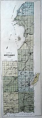 Ontario County Ontario Canada 1881 rare orig map Ont Agricultural Commission