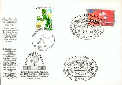 Germany Korea 2state cover Tennis Steffi Graf 1988 fh13